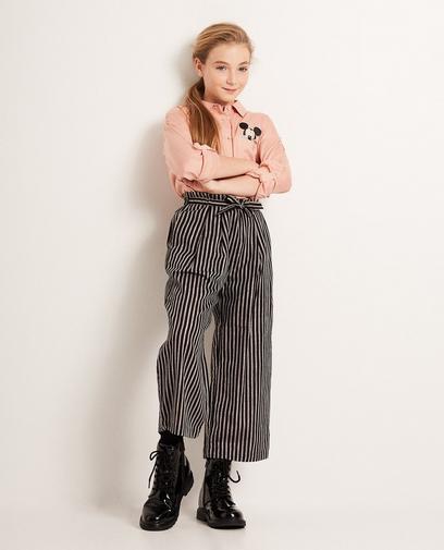 Jupe-culotte rayée